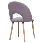 Krzesło nowoczesne Angus na drewnianych nogach.