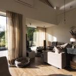 Zasłony na wymiar w salonie naturalna tkanina – Tribeca 02