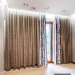 Zasłony w sypialni łączona tkanina – Heritage i Jade