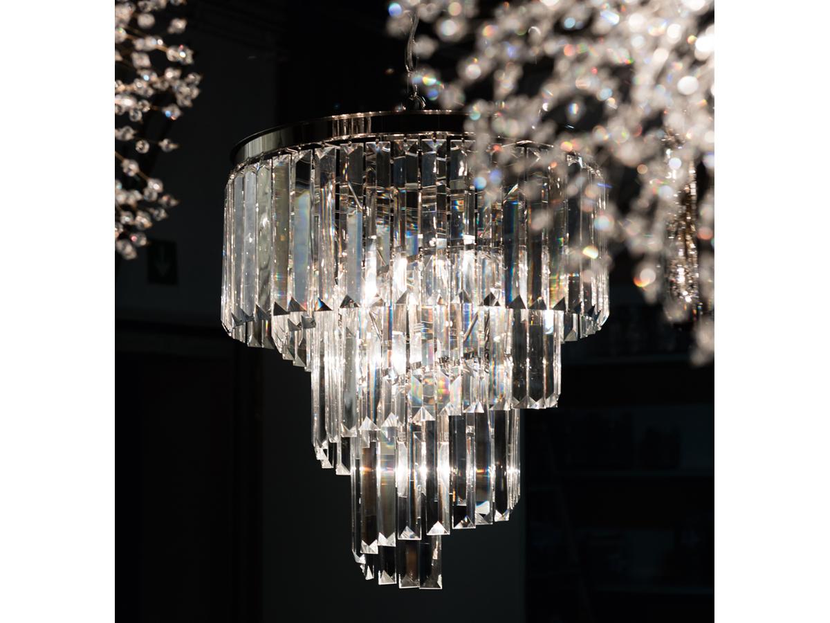 Lampa Wisząca żyrandol Z Kryształkami W Stylu Glamour 4b